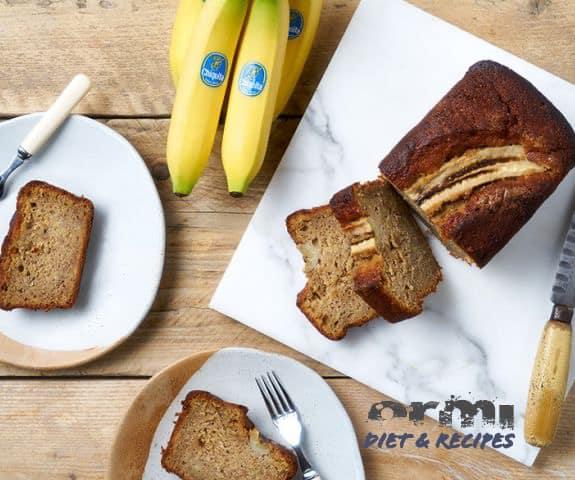 Ψωμί μπανάνας με καρύδια και γάλα αμυγδάλου Vegan