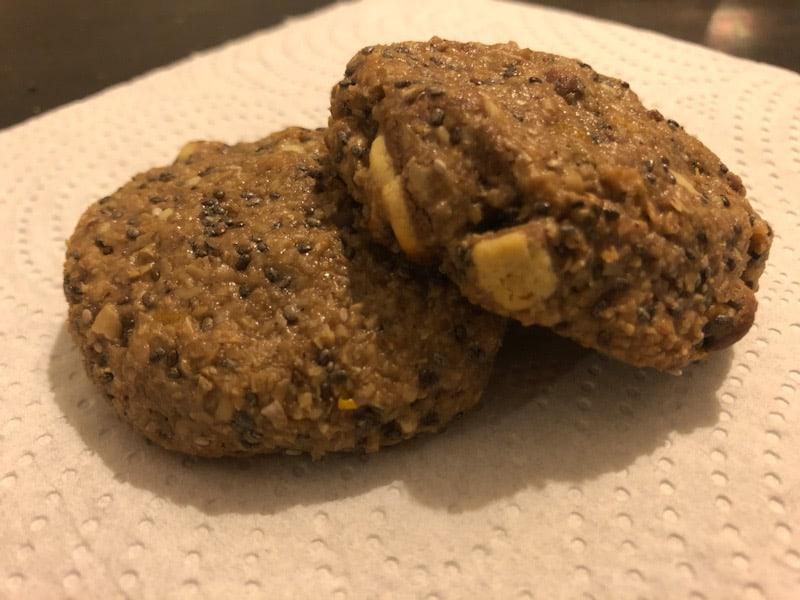 Μπισκότα βρόμης με σοκολάτα χωρίς ζάχαρη